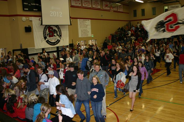 During the Crossover Assembly, the Class of 2013 moved across to the Senior section.